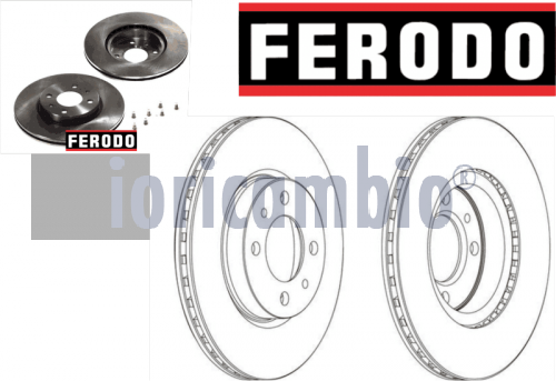 FERODO DISCO FRENO  FIAT DOBLO MPV / Space wagon (223, 119) 1.6 Natural Power 02-8	182 B6.000	76Kw/103Cv