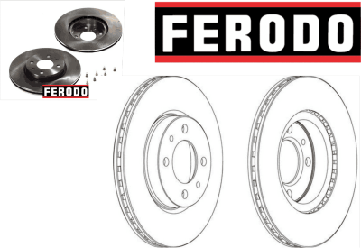 FERODO DISCO FRENO  FIAT PALIO Weekend (178DX) 1.7 TD (178DX.H1A) 96-01	176 A3.000	51Kw/70Cv