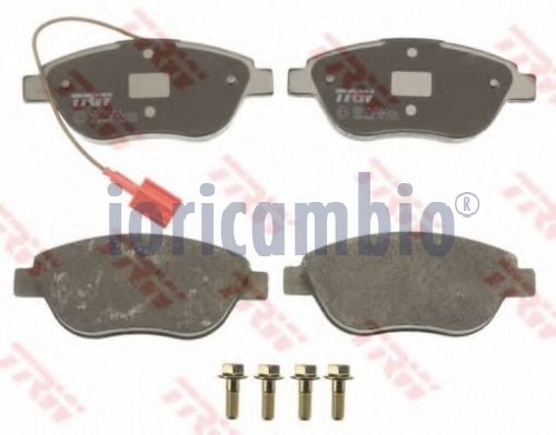 KIT PASTIGLIE FRENO TRW FIAT IDEA (350_) 1.6 10-8	310 A5.011	85Kw/116Cv